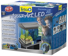 Tetra AquaArt LED Aquarium Shrimps 20 Liter anthrazit