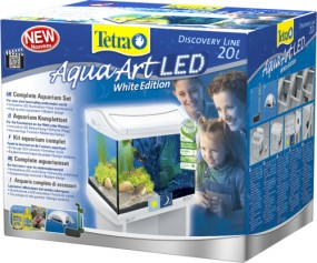 Tetra AquaArt LED Aquarium Shrimps 20 Liter weiß