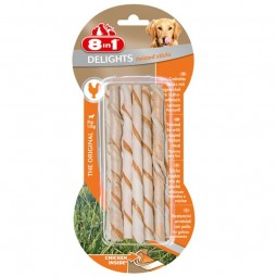 8in1 Delights twisted sticks mit Hähnchenfleisch 55g
