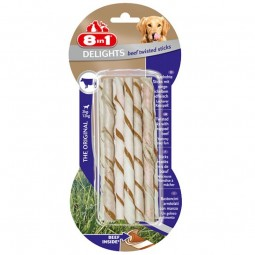 8in1 Delights twisted sticks mit Rindfleisch 55g