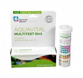Aquarium Münster aquavital multitest 6in1 50 Sticks (Teststreifen)